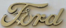 Vintage Ford Script chrome Car Emblem.    G030701