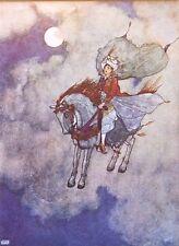 "Edmund DULAC vintage stampa montata, 14 x 11"", Fantasy Arabian Nights ED04"