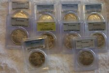 10 x 1883 and 1884  CC Morgan Dollars all PCGS ms63 Carson City