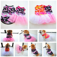 Cute Smile Pet Puppy Summer Short Skirt Small Dog Cat Dress Clothes Vest Costume