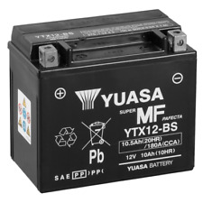 Yuasa YTX12-BS 12V 10Ah Batteria per Moto - Nera