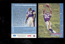 1993 UD Upper Deck QADRY ISMAIL Minnesota Vikings Rookie Card