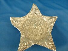 Mariposa Silver Starfish Wine Bottle Plate #2157 wedding ocean decor nautical