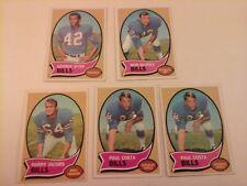 Vtg Lot 1970 TOPPS Football 5 Cards Team BUFFALO BILLS Costa Jacobs McDole Byrd