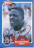 Roosevelt Rosey Brown NY New York Giants Penn State Signed Autograph Photo Card