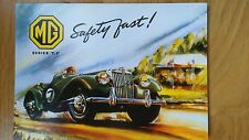No 135 MG TF Racing Safety Fast Postcard Vintage Ad Galllery VF1658PC ***MINT***