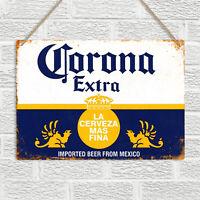 CORONA EXTRA Vintage Retro Style Metal Wall Sign Plaque Beer Bar Pub Man Cave