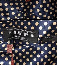Seiden Krawattenschal  dunkelblau-beige, 121x7,50 cm, doppelseitig