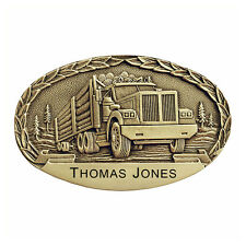 Logging Truck Personalized Belt Buckle OBM153P IMC-Retail