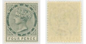 Tobago 1885 4d QV grey, SG 22 NH - (Trinidad & Tobago)