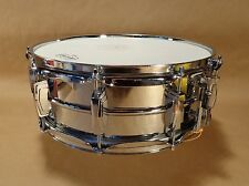 LUDWIG SUPRAPHONIC SNARE DRUM 1977 Blue Olive Badge Totally Original