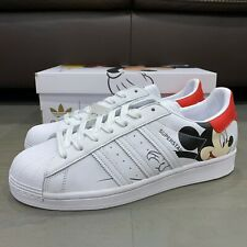 Adidas x Disney Mickey Mouse Superstar Casual Shoes Cloud White Core Black Men's