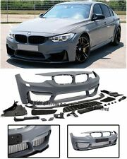 M3 Style NO PDC Front Bumper Cover Fog Delete W/ Aero Lip For 12-Up F30 3-Series