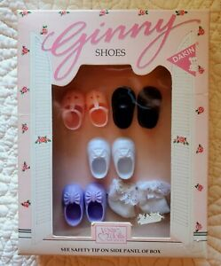 Vintage Vogue Ginny Doll Shoes New in Box 4 pr Shoes, 1 pr Socks Vintage 1980s