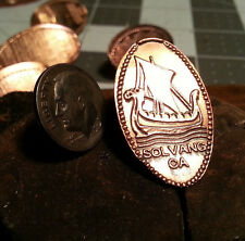 Viking Ship - Golf Ball Marker Pressed copper Penny Ball Mark