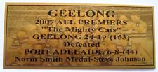 2007 GEELONG 3D Image Premiers Gold Plaque F/Post