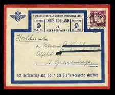 DUTCH EAST INDIES 1937 FLIGHT ADVERTISING KLM ENVELOPE