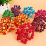Colors Mini Christmas  Fruit Berry Holly Artificial Flower Pick Xmas Home Decor