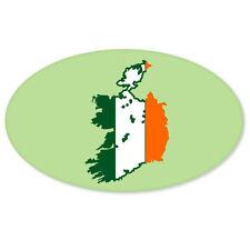 "Ireland Map Flag Oval car bumper sticker window decal 5"" x 3"""