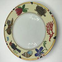 Lynn Chase EXOTICA Porcelain Gold-Trimmed Salad or Dessert Plate 1998