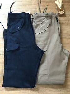 Unisex Cotton Combat Active Outdoor Walking Work Trousers 8 10 12 Navy Beige