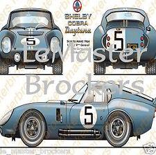 SHELBY COBRA DAYTONA  24 heures du Mans 1967  (Poster racing affiche auto sport)