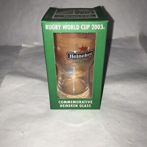 Rare Rugby World Cup 2003 Commemorative Heineken Glass New Open Box