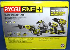 RYOBI 18-Volt ONE+ Lithium-Ion Cordless 6-Tool Combo Kit p884