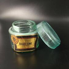 Pot en verre avec couvercle à visser 'Diurétine-poison'