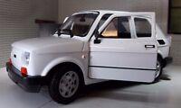G LGB 1:24 1:21 Maßstab Weiß Fiat 126 Welly Druckguss V Detaillierte Modell 1972