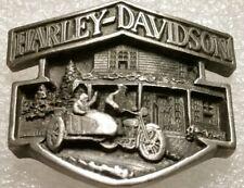 Harley Davidson 3 D Medallion Badge Emblem Riders On HARLEY SIDECAR & BUILDING