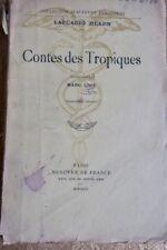 HEARN LAFCADIO CONTES DES TROPIQUES 1926