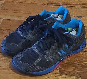 Reebok Crossfit Womens Size 7 WZA Shoes CR5FT Nano 5.0 Kevlar Black Blue EUC