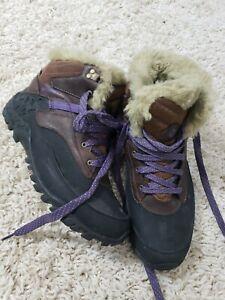 Women Merrell fluorecein Snow Waterproof Hiking Boots 7.5  Insulated Leather