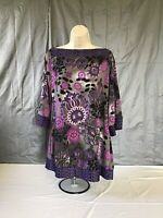New Directions Size Large Women's Pullover Top, 3/4 sleeve Tunic Top