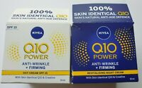 NIVEA Q10 Power Anti-Wrinkle Firming Night & Day Cream Set Boxed New