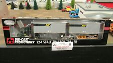 DCP#30484 (RETIRE ONLY) ABF FREIGHT IH 9200 TRUCK & DOUBLE PUP TRAILER'S 1:64/CL