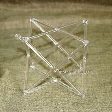 """Optically Clear Quartz Crystal Singing Merkaba Pyramid 9"""" Crystal Singing Bowl"""