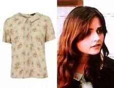Topshop Screen Accurate SA Floral Collar Pleat Button Cosplay Blouse Top 6 2 34