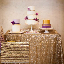 "60""*102""  Gold Sequin Tablecloth,wholesale Wedding Sequin Table Christmas Day"