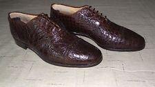 RARE! $2,000+ Polo Ralph Lauren Brown Alligator Crocodile Oxfords Boots Shoes