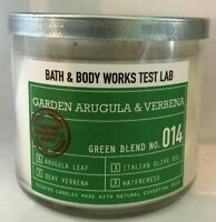 *New* GARDEN ARUGULA & VERBENA  3-Wick Candle ~ Bath & Body Works ~ SHIPS FREE!