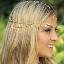 FREE GIFT BAG Gold Festival Party Head Chain Womens Hair Accessory Band Fashion
