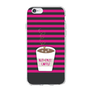 Ok But First Coffee Cappuccino Soft Case For iPhone 11 Pro XS 8 Samsung S20 S10