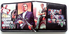 Grand Theft Auto 5 Game wallet purse id window card slot zip coin pocket ps4