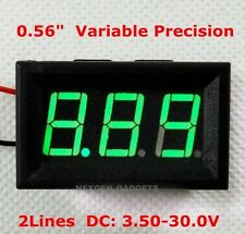 Digital LED Voltmeter Panel Volt DC 3.5 - 30V Voltage Meter GREEN