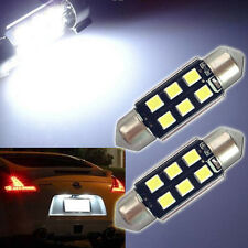 2 pcs/pack 6-SMD 6418 C5W  LED Bulbs White For Cars License Plate Lights CRV Set