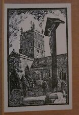 Postcard unposted Glouscestershire, Tewkesbury abbey Print