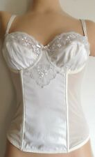 CHAINSTORE IVORY WEDDING STRAPLESS BASQUES LACE BONES HOOK EYE FASTENING 38D NEW