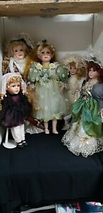 Small collection of 5 x Vintage Porcelain Dolls Knightsbridge Fairy Bride